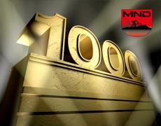 Mijlpaal 1000 volgers